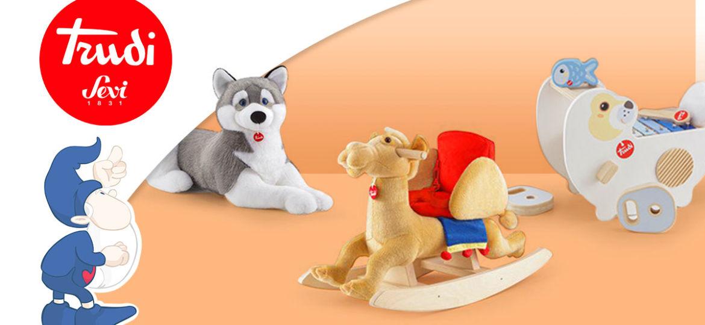 Peluche Trudi e giocattoli in legno Sevi: tutte le novità